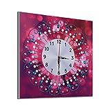COZOCO Pintura Diamante Estética abstracta en forma de relojes de punto de cruz digital decoración del hogar compromiso cuadrado diamante bordado pintura (G-Multicolor)