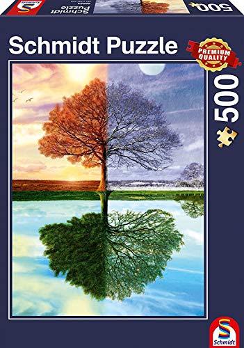 Schmidt Spiele Puzzle 58223 Puzzle 500 Teile, Jahreszeiten Baum