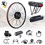 8fun BAFANG Kit de montaje de cubo de rueda delantera de 48 V 500 W con batería Kit de conversión de bicicleta eléctrica para rueda delantera de 20 26 27.5 700 C con pantalla LCD