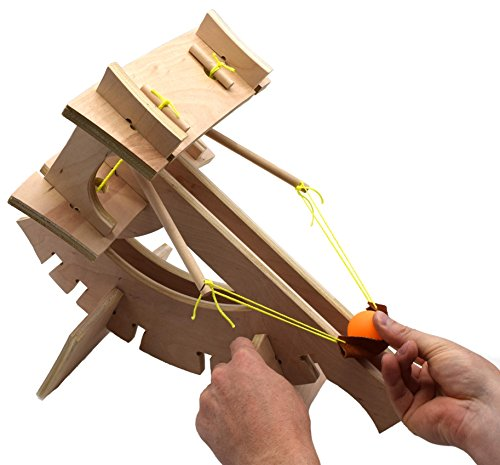 Garage Physics Ballista Kit | DIY Miniature Ballista | Wooden Catapult Model