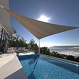 Dagongnets Dreieckiges Sonnensegel für Terrasse, 40,6 x 40,6 x 40,6 cm Schattendach mit UV-Block für Hinterhof, Garten, sanddurchlässiges Schattensegel Pergola Top Cover