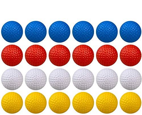 Crestgolf Golfbälle Durable Kunststoff Praxis Hohl Indoor Golfbälle Outdoor Bälle Kinder Spielzeug Haustiere Bälle zum Spaß, Packung mit 50 Stück-gemischt