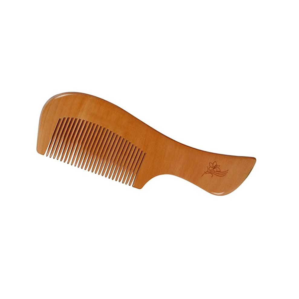 じゃない検索軽減するヘアーコーム ヘアブラシ、ナチュラルピーチウッドコーム、エアバッグマッサージコーム、男性用女性および子供用、タングル、長髪、厚い、カーリー、波打ち、乾燥および損傷した髪用のヘアブラシスタイル 理髪の櫛