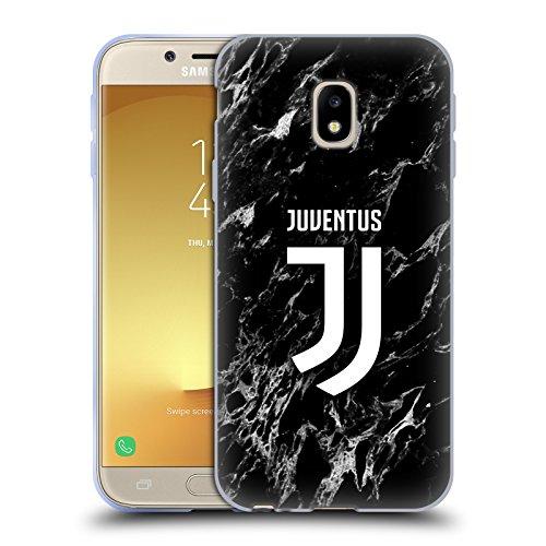 Head Case Designs Offizielle Juventus Football Club Schwarz Marmor Soft Gel Handyhülle Hülle Huelle kompatibel mit Samsung Galaxy J3 (2017)