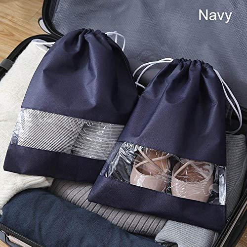 CCMOO 5 stuks waterdichte schoenen tas draagbare reistas fleece wasgoed organisator sneaker tode trekkoord