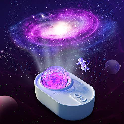 Youool Raumschiff Projektion Nachtlicht, Sterne Ozean Projektor Lampe Farbwechselnder Musik-Player mit Bluetooth für die Wohnzimmer Dance Party Bar