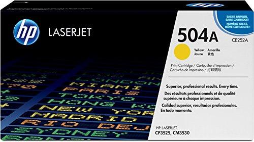 HP 504A (CE252A) Gelb Original Toner fürHP Color Laserjet CP3525, HP Color Laserjet CM3530