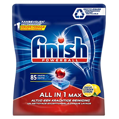 Finish All in 1 Max Lemon Vaatwastabletten - Kwartaalpak - 85 tabletten