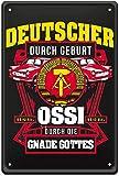 Blechschild Ostdeutschland ostdeutsche Ossi Sprüche DDR 20x30 cm Schilder Deko Eisen Schilder XJ88