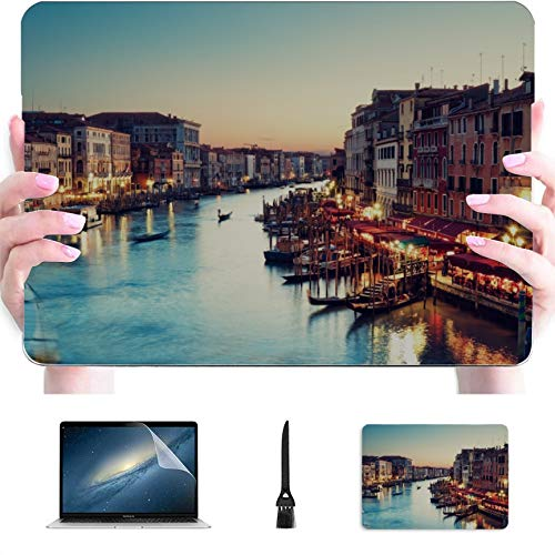 MacBook 2018 Case Famous Canal and Bridge at Sunset Plastic Hard Shell Compatible Mac Air 13' Pro 13'/16' A1706 MacBook Pro Case Protective Cover for MacBook 2016-2020 Version