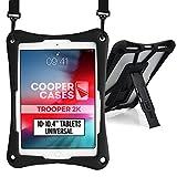 Cooper Trooper 2K Rugged Case for 10-10.4'' inch Tablet | Tough Bumper Protective Drop Shock Proof Kids Holder Carrying Cover Bag (Black)