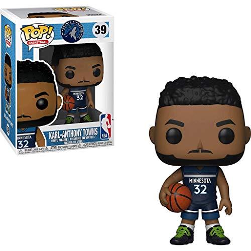 Lotoy Funko Pop Basketball : BTimberwolves - Karl Anthony Towns Vinyl 3.75inch for NBA Fans Model