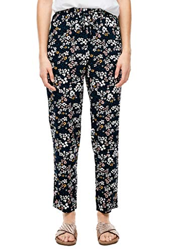 s.Oliver RED Label Damen Slim Fit: Gemusterte Stoffhose Navy AOP millefleurs 38