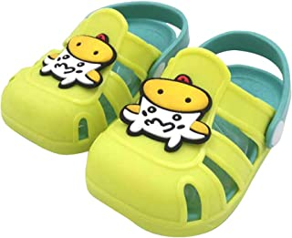 Hopscotch Boys and Girls PVC Animal Applique Clogs in Green Color