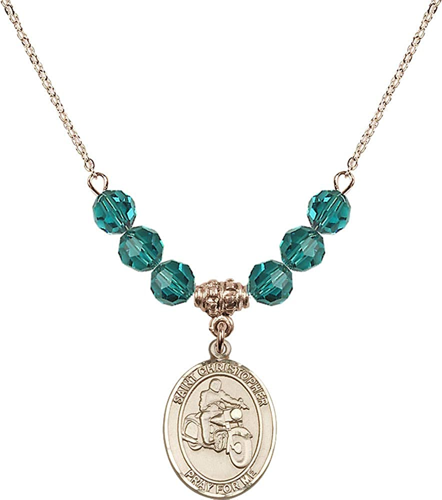 Bonyak Jewelry 18 Inch Hamilton Gold Animer Super popular specialty store and price revision Plated w 6mm Necklace Blue