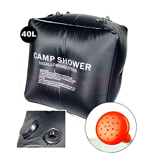 Sale!! 40L Portable Solar Heated Shower Water Bathing Bag Outdoor Camping Hiking Camp