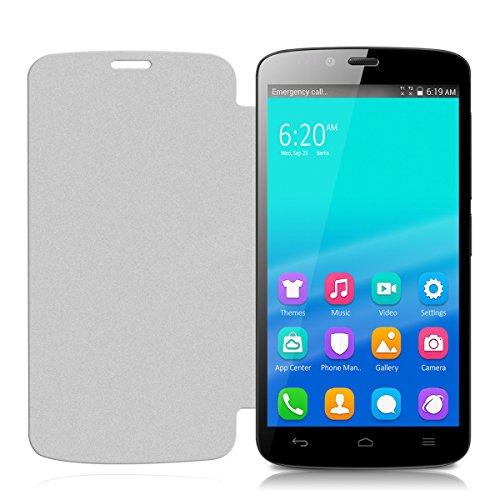 kwmobile Flip Case Hülle für Huawei Honor Holly - Aufklappbare Schutzhülle Tasche im Flip Cover Style in Weiß - 2