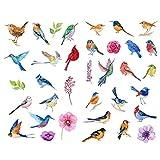 Acuarela Spring Birds Animal Precut Mini Bullet Journal Stickers Kawaii Planner Diary Album Scrapbook Estética Sticker1 Pcs