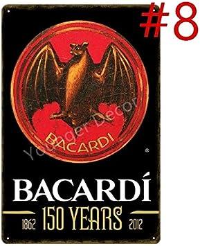 GVFDNTFRF Cartel clásico de Cerveza de Ron Bacardi Carteles ...