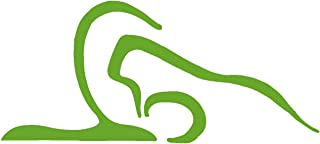 hBARSCI Plow Pose Vinyl Decal - 11 Inches - for Walls, Windows, Doors, Vehicles, Outdoor-Grade 2.5mil Thick Vinyl - Lime