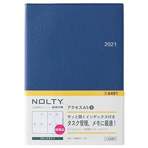 能率 NOLTY 手帳 2021年 A5 ウィークリー アクセス5 ネイビーブルー 6481 (2020年 12月始まり)