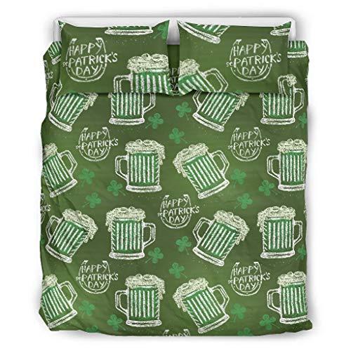 WOSITON Bedding St Patrick's Day Comfort Home - Juego de almohadas decorativas para cama (264 x 228 cm), color blanco