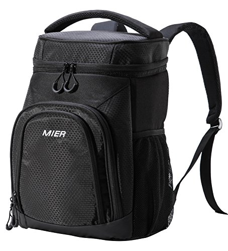 MIER Insulated Cooler Backpack Leakproof Soft Cooler for...