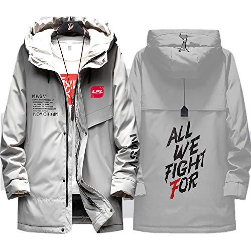 73HA73 Herren Warme Winterjacke LPL League of Legends Pro League E-Sport Coat Hoodie Komfortable Übergangsjacke Sweatshirt Jacken (No Shirt),Gray,L(170-175cm55kg)