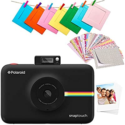 Zink Polaroid SNAP Touch 2.0 – 13MP Portable Instant Print Digital Photo Camera w/ Built-In Touchscreen Display, Black from C&A Marketing, (Inc)