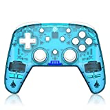 Wireless game console, REDSTORM YS07 switch game console, asymmetric double vibration feedback, support for 6 axes, suitable for supporting switch, switch pro,Windows XP/10/7/8/8.1,Blue