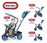 Little Tikes - 634338E4 - Tricycle - 4 En 1 Deluxe Néon Bleu/Noir