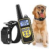 MIOLAI Erziehungshalsband Hund,Hunde erziehungshalsband mit 2600FT Fernbedienung,Wasserdicht Anti Bell Halsband für kleine Hunde, mittelgroße Hunde und große Hunde