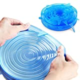 Aiming 6pcs / Set Reutilizable Fresco Mantener Wrap Silicona Extender succión Tapa-Bowl Cacerola Cubrir los Alimentos Cocinar la Cacerola Tapas de derrames (2)