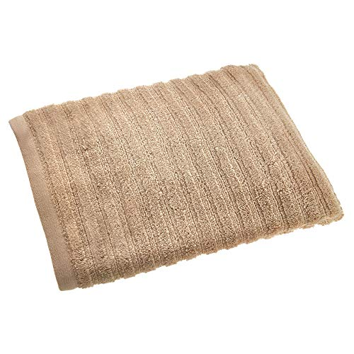Price comparison product image iDesign Bath Towel,  Large Ribbed Guest Towel Made of 100 Percent Cotton,  Extra Soft Beach Towel for Shower,  Sauna and More,  Beige