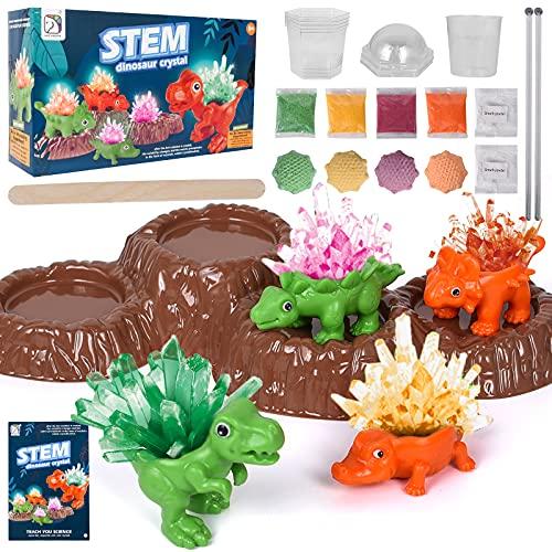 Herefun Kristalle Züchten Experimentierset, 4 Farben Kristalle Experimentierkasten Experimente, Wachsen Züchten Wissenschaftler Spielzeug Geschenke für Kinder Jungen Mädchen ab 5 6 8 10 12 Jahre