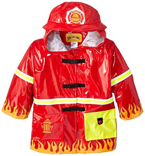 Kidorable Originele kinderregenjas, alle weersomstandigheden, waterbestendig, regenjas, brandweerman, voor jongens en meisjes