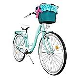 Milord. 2018 Cómoda Bicicleta de ciudad con una Canasta, Bicicleta, 1 Velocidad, Rueda de 26', Aqua