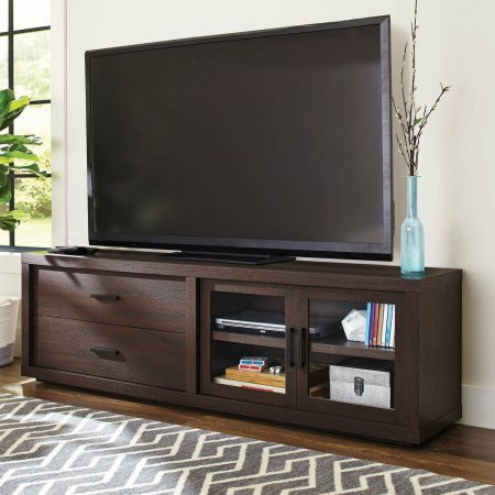 """Better Homes and Gardens Steele TV Stand for TV's up to 80"""", Espresso"""