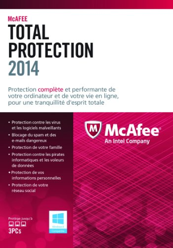 McAfee Total Protection 2014 (3 postes) - mise à jour