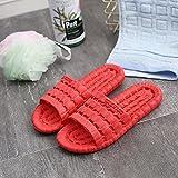 QPPQ ntideslizante Chanclas,Zapatillas de baño Antideslizantes, cómodas Sandalias de Verano.-36-37_Gran Rojo,Zapatillas de baño