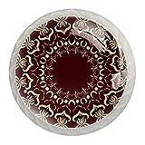 Juego de 4 pomos decorativos para aparador, diseño árabe, estilo arabés, para muebles, baño, cocina, escritorio, lavandería