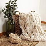 ARCTIC Fake Fur Plaid Bonnie - Extra Doux - Grande couverture de luxe au design...
