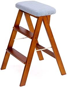 ZXCMNB Step Stool  Seat Foldable Ladder Chair Multifunction Portable Household High Wooden Bench Kitchen Home Kitchen
