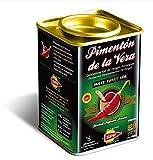 Pimentón de la Vera Ahumado, Dulce en Lata de 175 g, Producto con la Denominación de Origen Protegida D.O.P. Condimento Apto para Celíacos.
