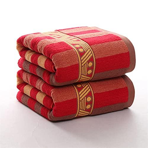 ZZABC MJYSH Juego de Toallas a Rayas Toalla Facial Gran baño Grueso SPA Toalla Deportiva Hogar 100% algodón Baño para Adultos Niños Hotel (Color : A, Size : 3pcs Towel Set)