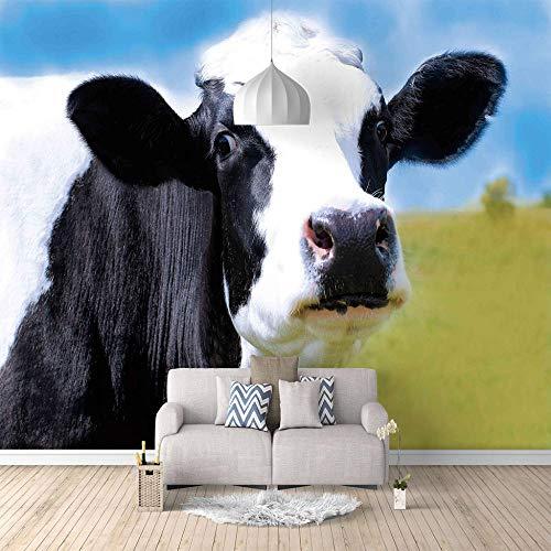 SFALHX 3D-behang fotobehang koe wandfoto woonkamer 3D schilderij bank tv achtergrond voor muren 200 x 140 cm (78.7 x 55.1 inch) 250 x 175 cm (98,4 x 68,9 Zoll)