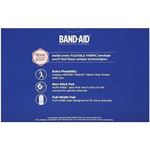 Band-Aid Flexible Fabric Adhesive Bandage - 100 per Box by