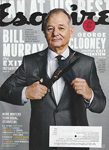 Esquire Magazine (May, 2016) Bill Murray Cover
