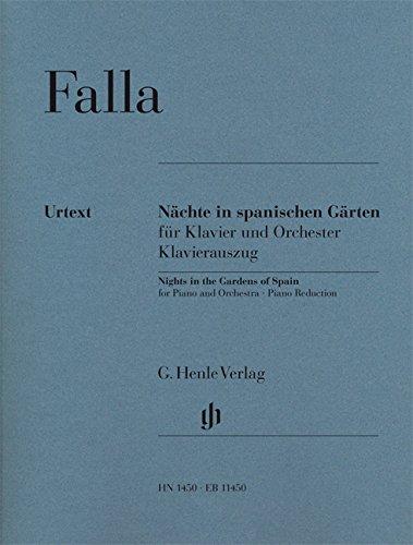 Nächte in spanischen Gärten für Klavier und Orchester, Urtext: Klavierauszug, Klavier zu zwei Händen