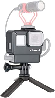 ULANZI V2 Protective Case Solution for Gopro with Audio Box Space Cage for GoPro Hero 7 6 5 + Mini Tripod Setup W Cold Sho...